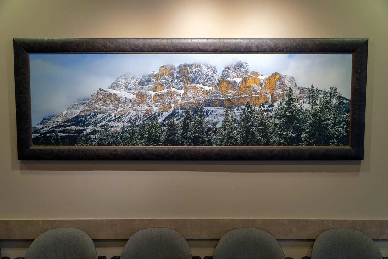 Castle Mountain Painting
