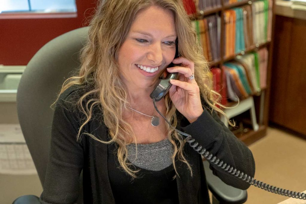 Admin Answering Phone